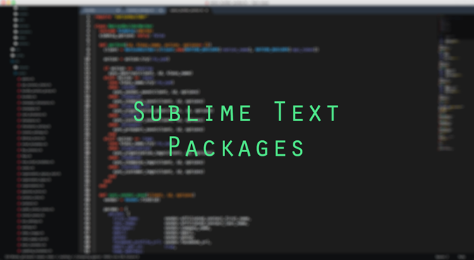 Sublime Text Packages