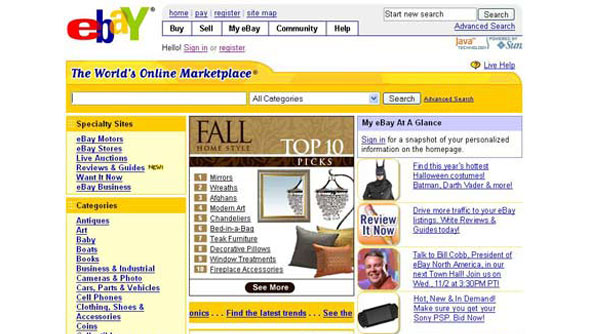 Ebay came a long way with their redesign even if it's not the most visually rich design but took into consideration how crucial aesthetic is.